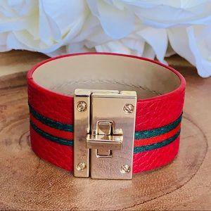 Leathered Red Bracelet